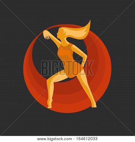 The girl with the help of dance expresses the idea of striving for perfection