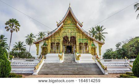 Luang Prabang, Laos - December 3, 2015: Royal Palace Museum of Luang Prabang city in Laos (The Royal Palace Museum)