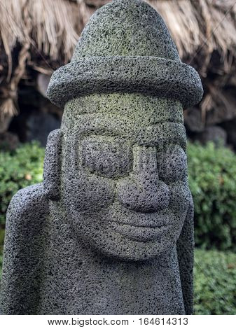 Dol-Harubang Jeju Island statue in south korea
