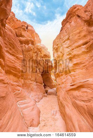 Sand White Canyon on Sinai Peninsula, Egypt