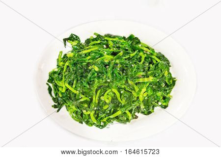Chinese Stir Fry Snow Pea Bean Sprout With Garlic