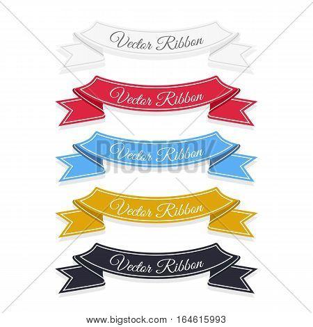 Set of vector banner ribbons. Eps 10.