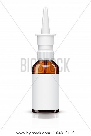 Nasal spray container isolated on white background