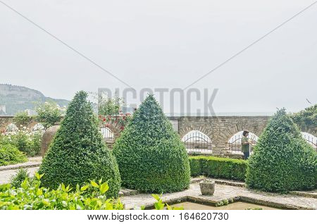 Balchik, Bulgaria - June 19, 2016. The Balchik Botanical Garden Of Romanian Queen Marie, Botanic Gar