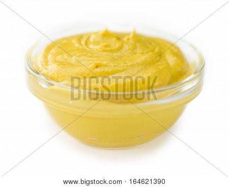 Portion Of Mustard Isolated On White