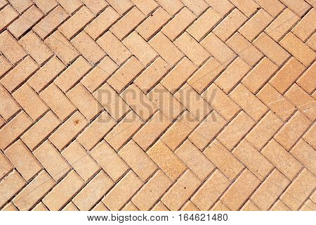 Texture of paving stone masonry close up