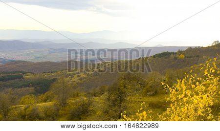Landscape Balkan hills Stara Planina hills in Bulgaria in autumn