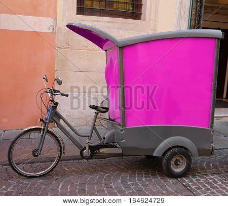 Vehicle With Pedals Type Bicycle Of A Express Courier