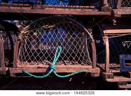 Rope of a lobster trap in Prince Edward Island