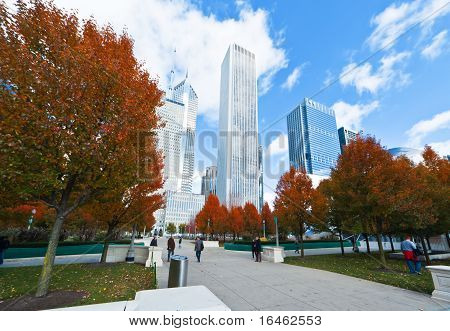 Millennium Park In het centrum van Chicago