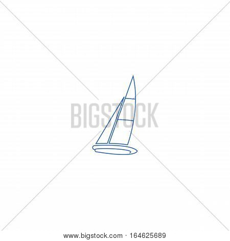 Sailboat vector illustration isolated on a white background.