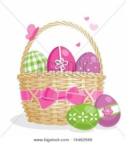 Easter basket illustration