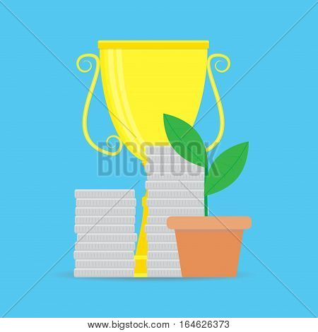 Successful start-up investments. Investment concept finance and money vector illustration