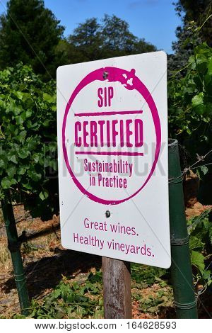 San Luis Obispo USA - july 15 2016 : the Claiborne and Churchhill winery