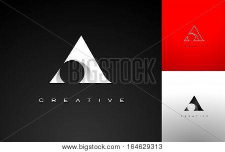 Letter A Monogram Stilized. Letter A Flat Design Outline