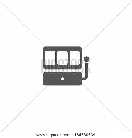 Slot machine vector icon isolated on a white backgorund.