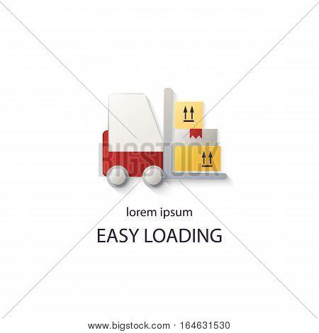 Cargo loader logotype design templates. Modern easy to edit logo template. Vector design series.