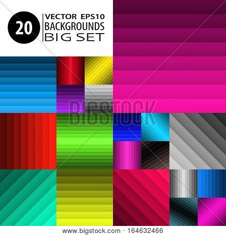 Backgrounds Set Abstract Textures Collection Graphic Bundle 3