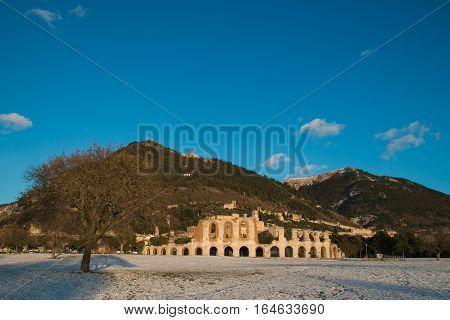 Ruins of the Roman amphitheatre of Gubbio