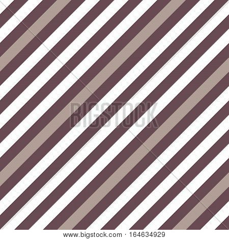 Seamless geometric pattern. Stripy texture for neck tie. Diagonal contrast strips on background. Brown, beige, white colored. Vector