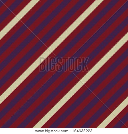 Seamless geometric pattern. Stripy texture for neck tie. Diagonal contrast strips on background. Green, brown,  vinous colors. Vector
