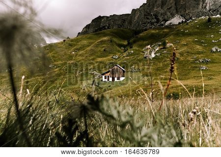 mountains summer green Dolomites alpine traditional alpine life