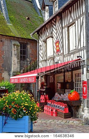 Honfleur France - august 18 2016 : restaurant