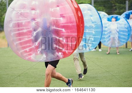 Bubble Bump. Team Game Outdoor.