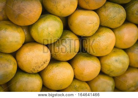 Oranges in the Indian market for sale.
