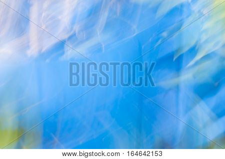 Blurred Abstract Background. Blue And White Light.