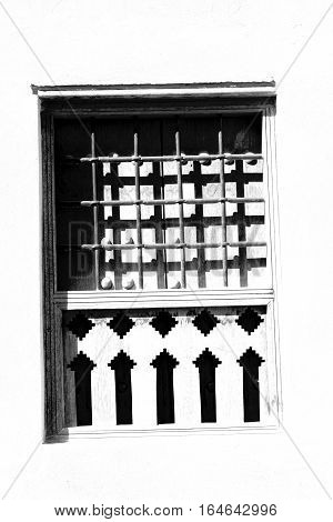 In Oman The Old Ornate Window