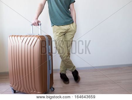 Standing With Large Baggage