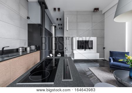 Cooking Area In Multifunctional Apartment