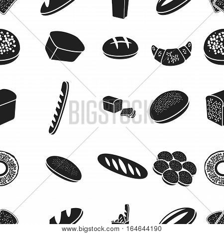 Bread pattern icons in black style. Big collection of bread vector symbol stock