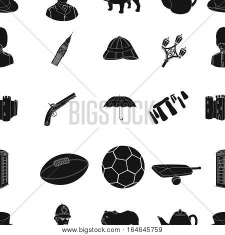 England country pattern icons in black design. Big collection of England country vector symbol stock illustration