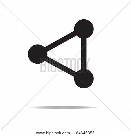 network connection structure on white background. network connection structure sign.