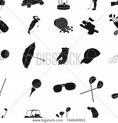 Golf club pattern icons in black design. Big collection of golf club vector symbol stock illustration