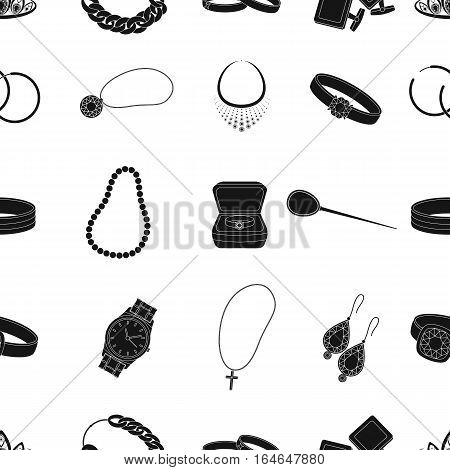 Jewelry and accessories pattern icons in black design. Big collection of jewelry and accessories vector symbol stock illustration