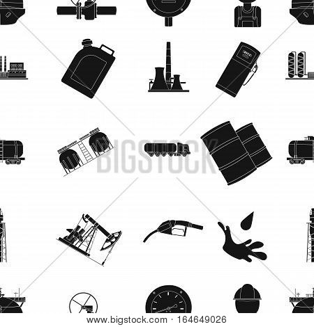 Oil industry pattern icons in black design. Big collection of oil industry vector symbol stock illustration