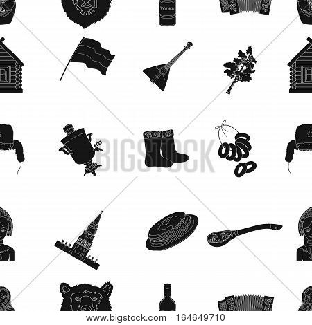 Russia country pattern icons in black design. Big collection of Russia country vector symbol stock illustration