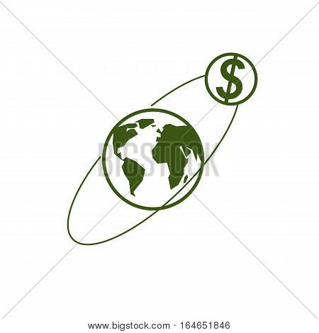 Global Business Creative Logo, Unique Vector Symbol Created With Different Elements. Global Financia