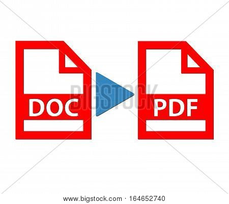 Convert document file to pdf file illustration