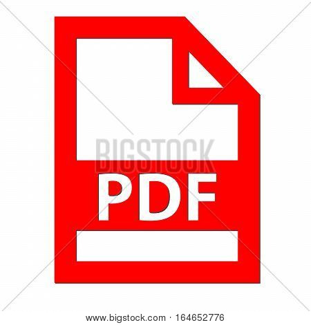 PDF file icon with a white background