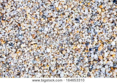 Close up view of hard sand texture for blur background