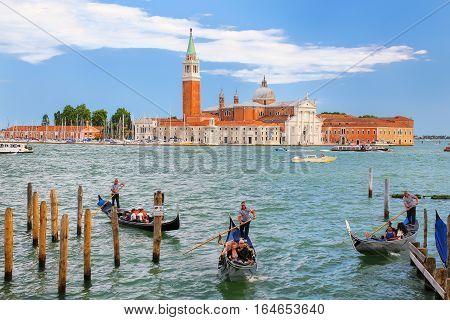 Venice, Italy - June 21: San Giorgio Maggiore Island Seen From San Marco Square On June 21, 2015 In