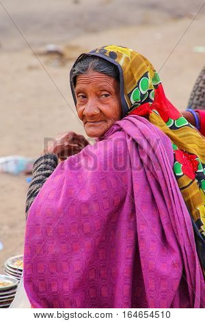 Amber, India - November 13: Unidentified Woman Sits Near Amber Fort On November 13, 2014 In Amber, I