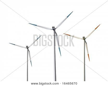 Isolated wind turbines