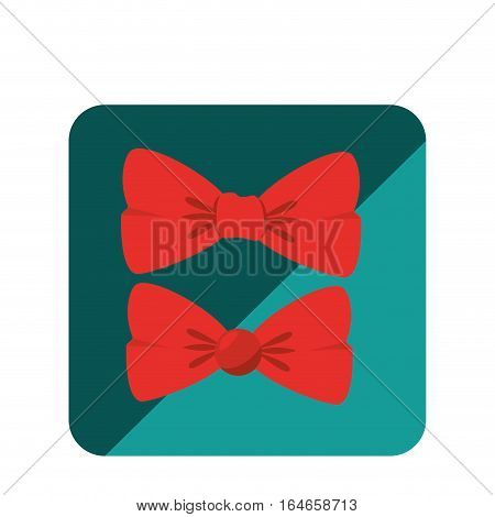bowtie hipster style icon vector illustration design