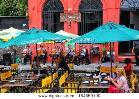 Colonia, Uruguay - December 8: Street Cafe On December 8, 2014 In Colonia Del Sacramento, Uruguay. C