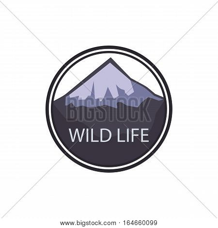 Mountain adventure and expedition logo badges collections. Wild life travel emblems Graphic illustration